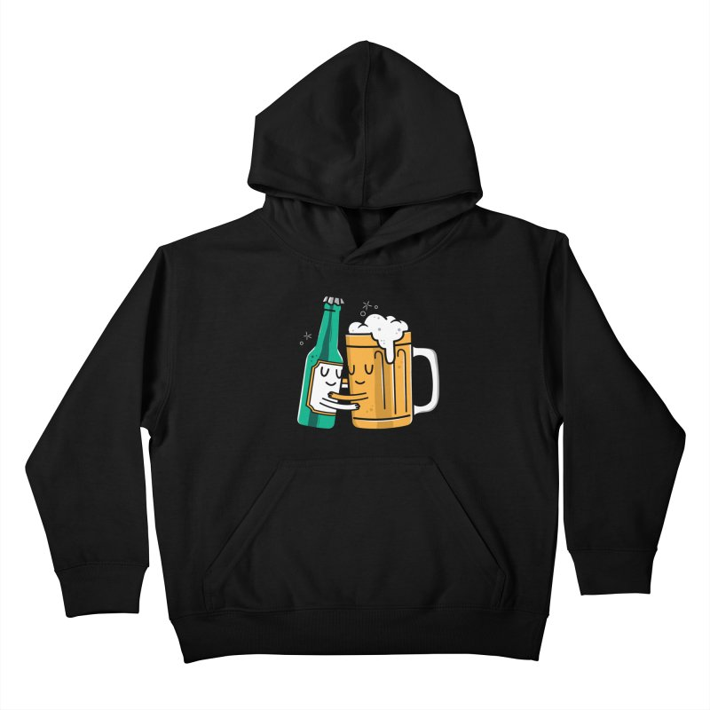 Beer Hug Kids Pullover Hoody by danielstevens's Artist Shop