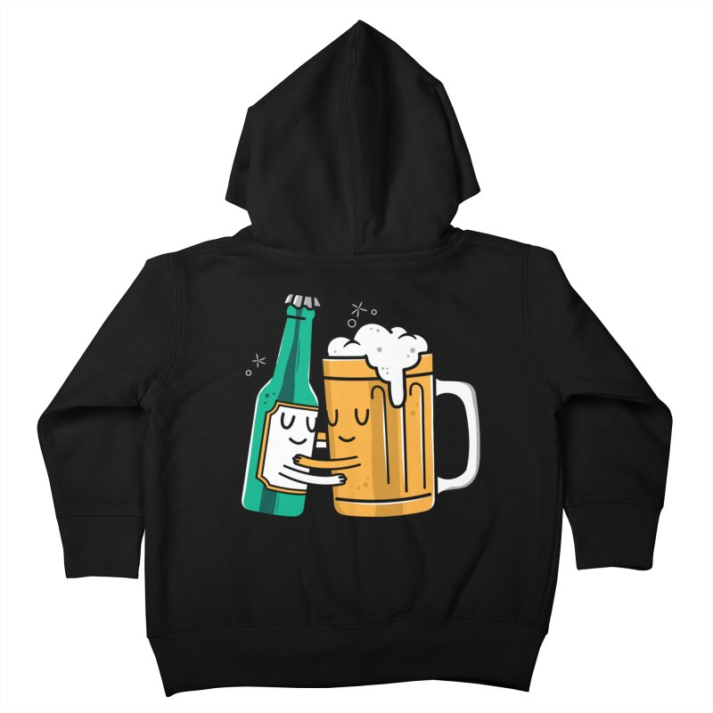 Beer Hug Kids Toddler Zip-Up Hoody by danielstevens's Artist Shop
