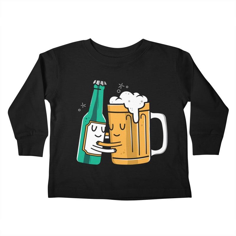 Beer Hug Kids Toddler Longsleeve T-Shirt by danielstevens's Artist Shop