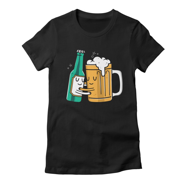Beer Hug Women's T-Shirt by Daniel Stevens's Artist Shop