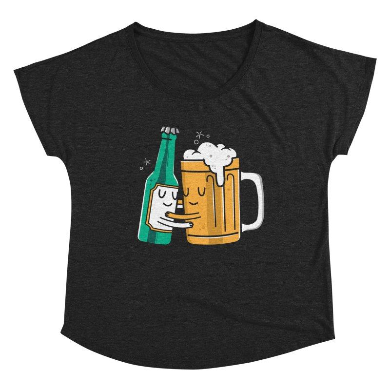 Beer Hug Women's Scoop Neck by Daniel Stevens's Artist Shop