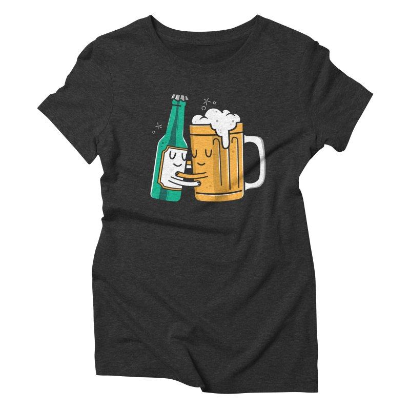 Beer Hug Women's Triblend T-Shirt by danielstevens's Artist Shop