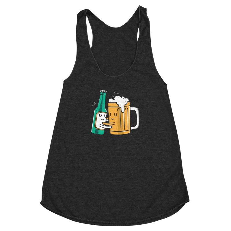 Beer Hug Women's Racerback Triblend Tank by danielstevens's Artist Shop