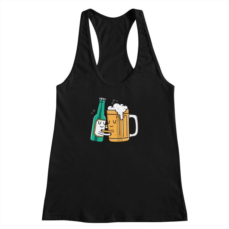 Beer Hug Women's Racerback Tank by Daniel Stevens's Artist Shop