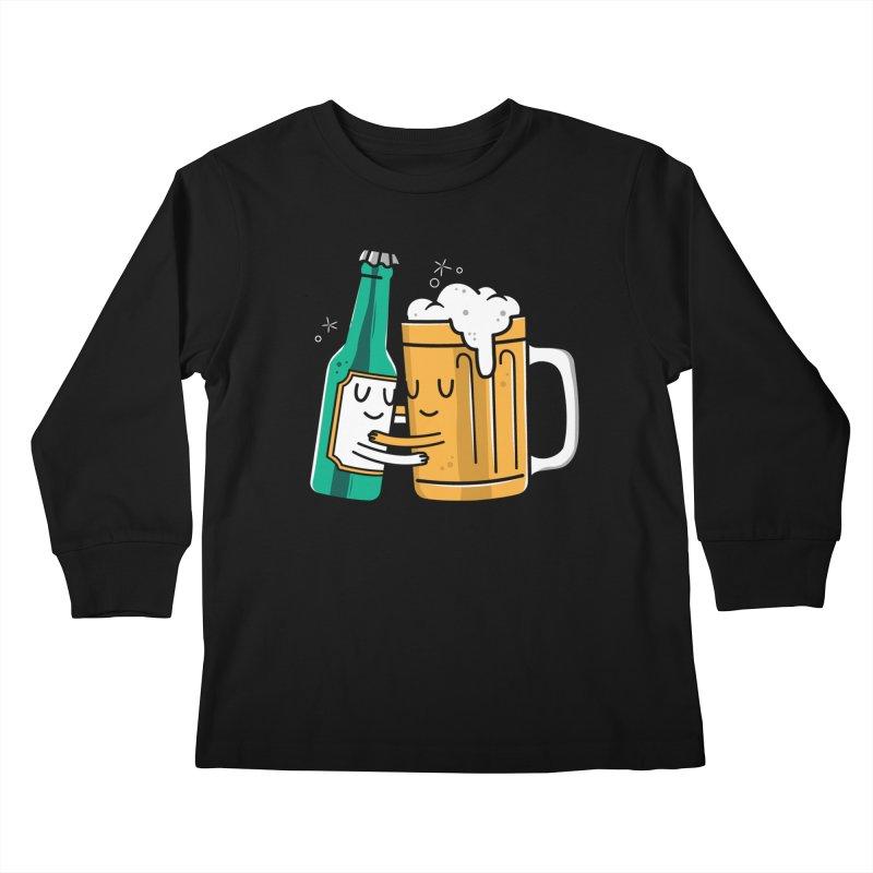 Beer Hug Kids Longsleeve T-Shirt by Daniel Stevens's Artist Shop
