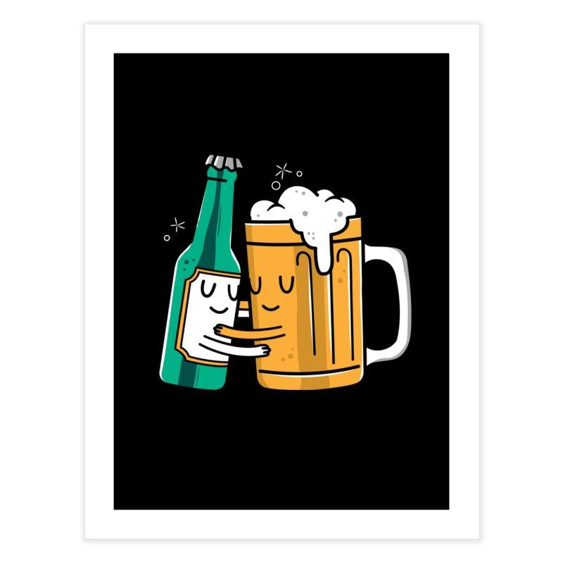 Beer Hug Home Fine Art Print by Daniel Stevens's Artist Shop