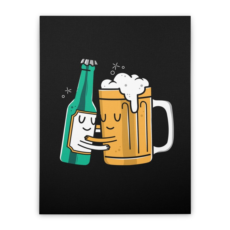 Beer Hug Home Stretched Canvas by danielstevens's Artist Shop