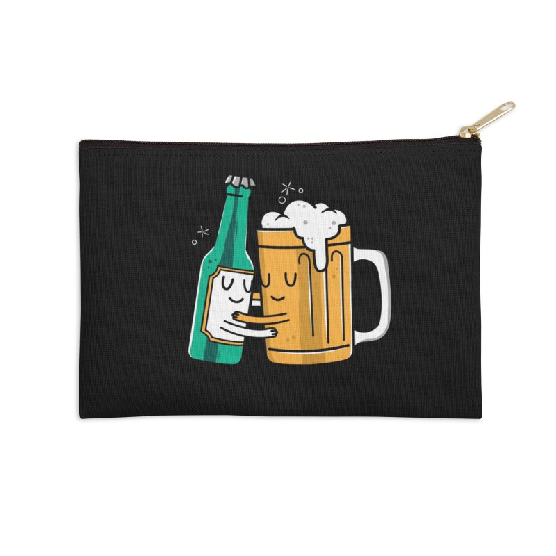 Beer Hug Accessories Zip Pouch by danielstevens's Artist Shop