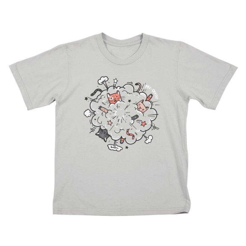 Cat-astrophe Kids T-shirt by danielstevens's Artist Shop