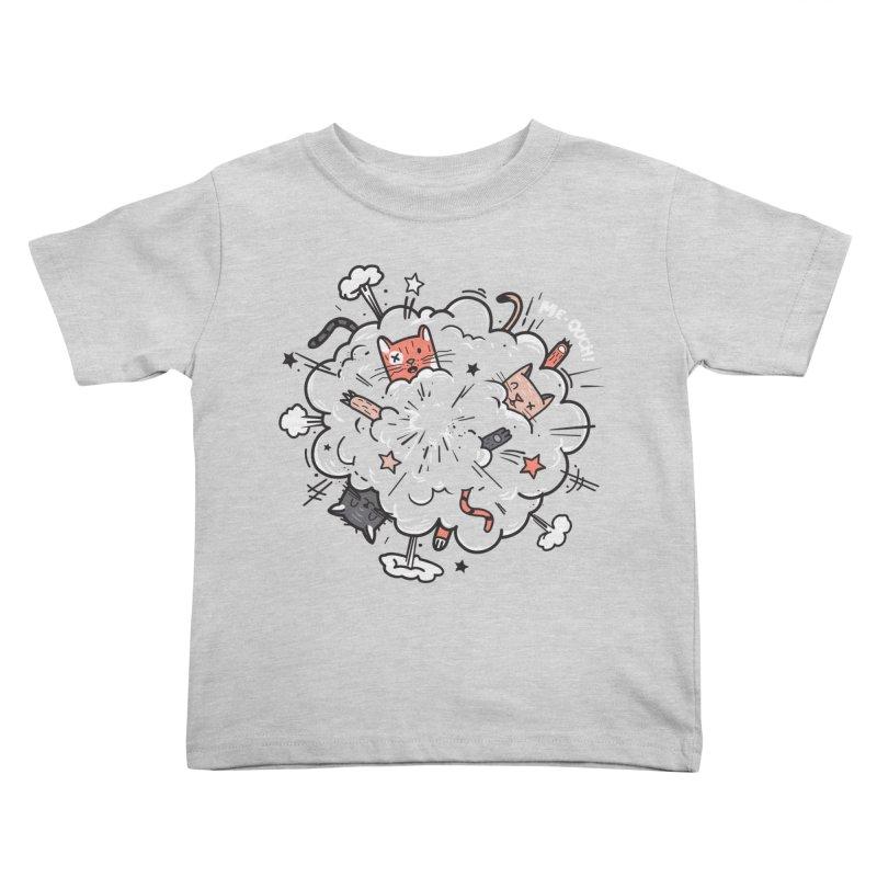 Cat-astrophe Kids Toddler T-Shirt by danielstevens's Artist Shop