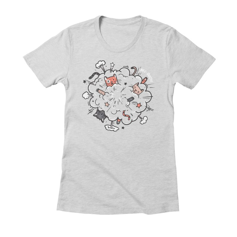 Cat-astrophe Women's Fitted T-Shirt by danielstevens's Artist Shop