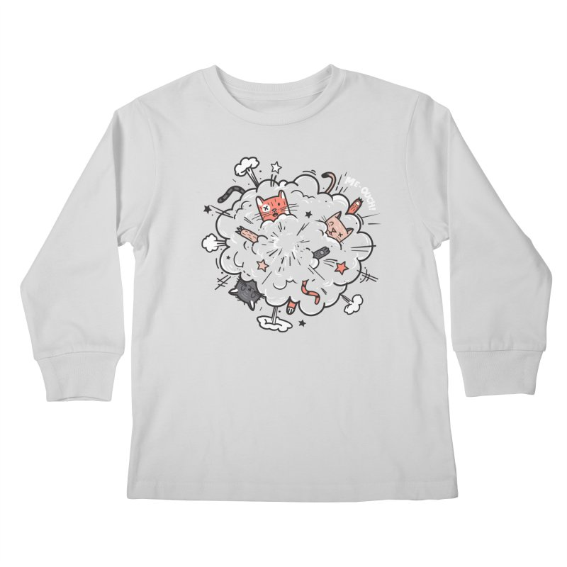 Cat-astrophe Kids Longsleeve T-Shirt by danielstevens's Artist Shop