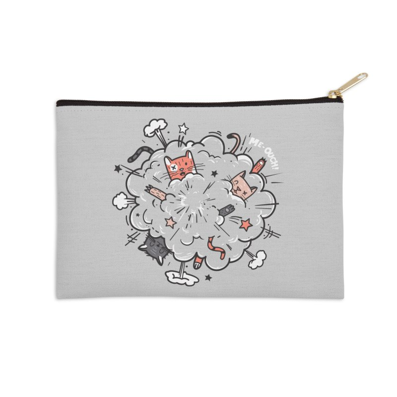 Cat-astrophe Accessories Zip Pouch by danielstevens's Artist Shop