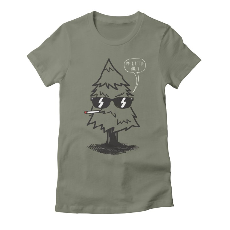 That tree is shady Women's Fitted T-Shirt by danielstevens's Artist Shop