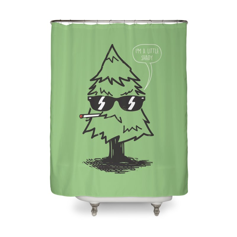 That tree is shady Home Shower Curtain by danielstevens's Artist Shop