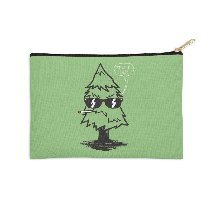 That tree is shady Accessories Zip Pouch by danielstevens's Artist Shop
