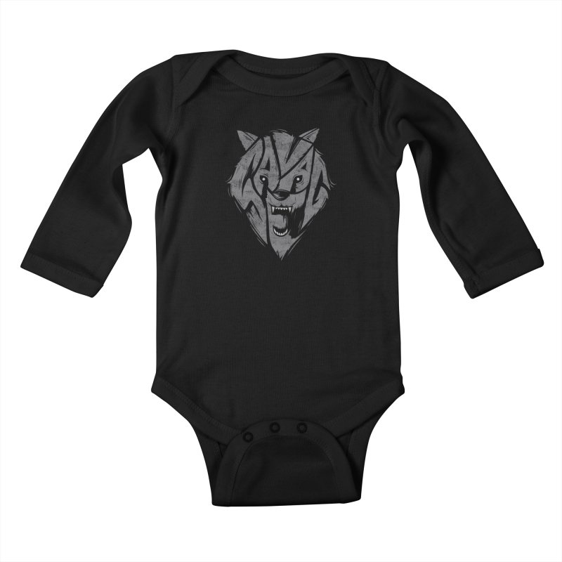 Savage Kids Baby Longsleeve Bodysuit by danielstevens's Artist Shop