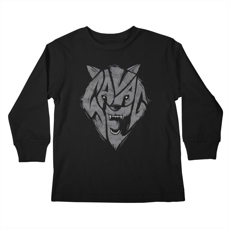 Savage Kids Longsleeve T-Shirt by Daniel Stevens's Artist Shop