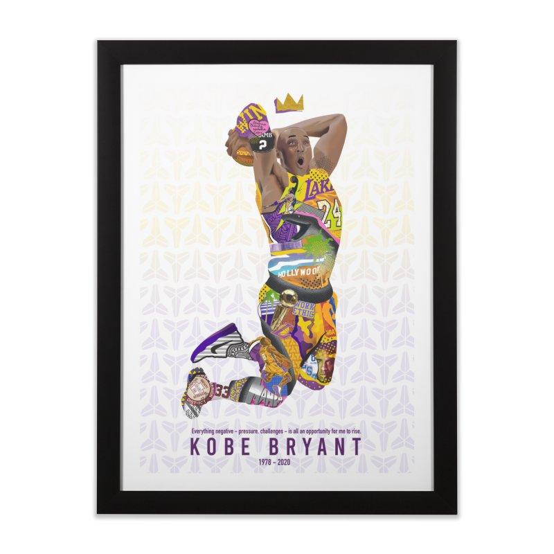 KOBE TRIBUTE Home Framed Fine Art Print by Daniel Stevens's Artist Shop