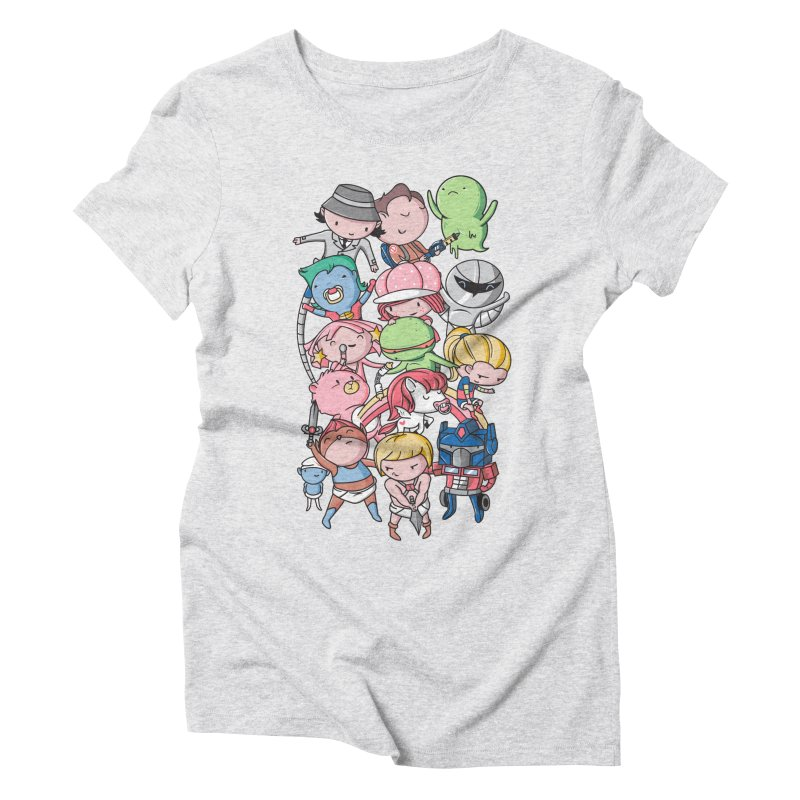 80's Babies in Women's Triblend T-Shirt Heather White by danielstevens's Artist Shop