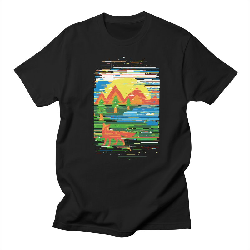 Glitch in Nature in Men's T-shirt Black by danielstevens's Artist Shop