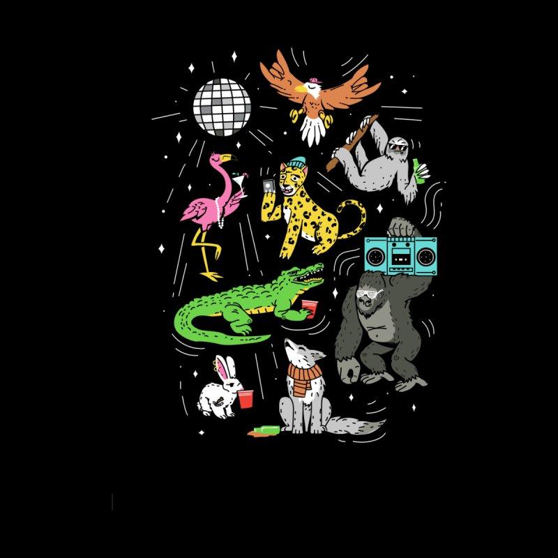 Party Animalz Kids T-Shirt by Daniel Stevens's Artist Shop