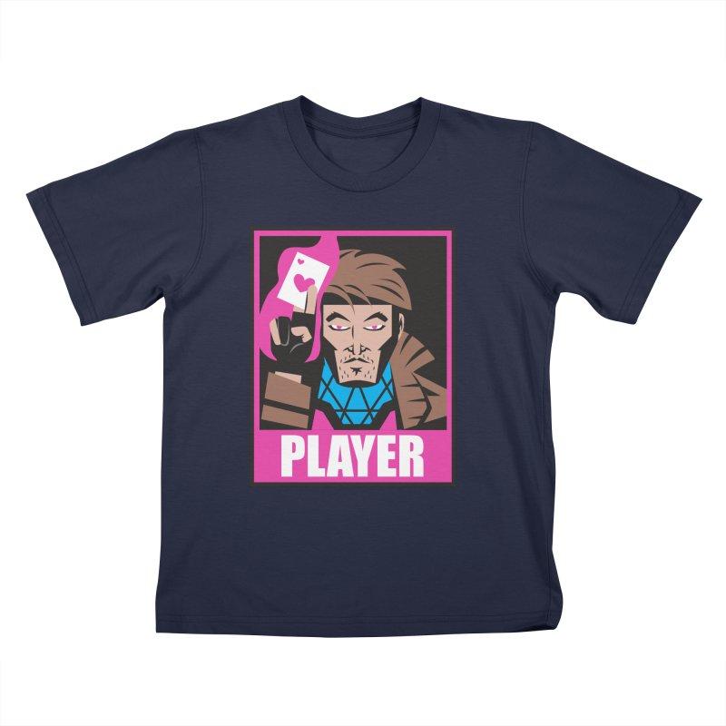 Player Kids T-Shirt by Daniel Stevens's Artist Shop