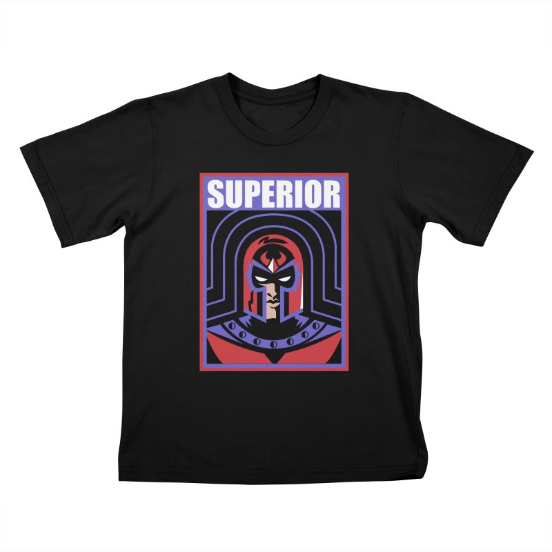 Superior Kids T-Shirt by Daniel Stevens's Artist Shop