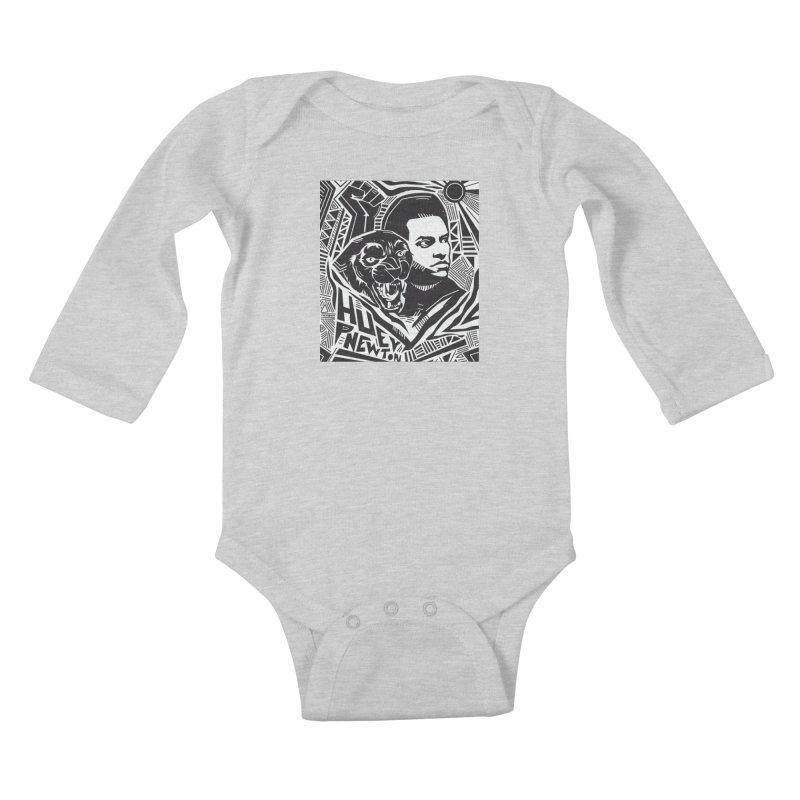 Huey P Newton Kids Baby Longsleeve Bodysuit by Daniel Stevens's Artist Shop