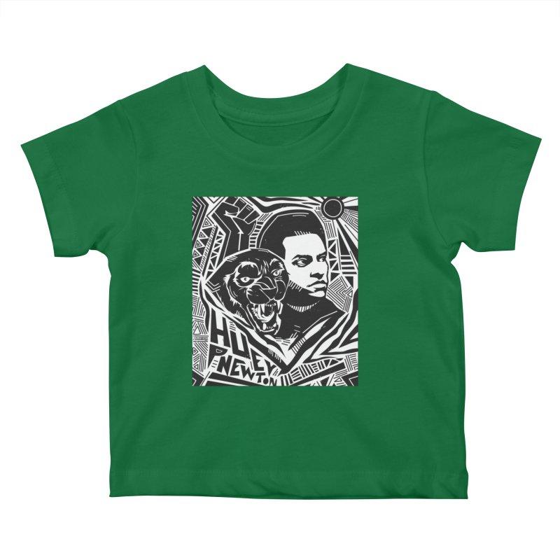 Huey P Newton Kids Baby T-Shirt by Daniel Stevens's Artist Shop