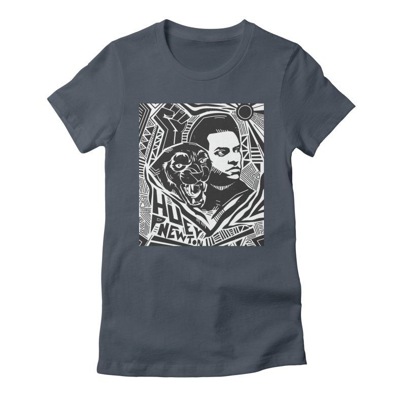 Huey P Newton Women's T-Shirt by Daniel Stevens's Artist Shop
