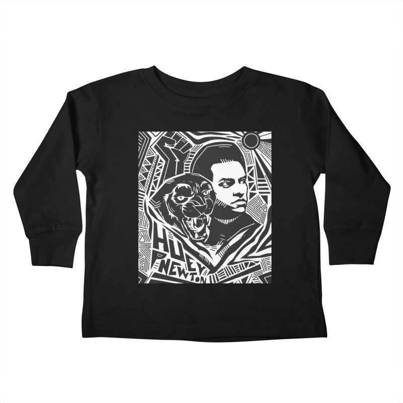 Huey P Newton Kids Toddler Longsleeve T-Shirt by Daniel Stevens's Artist Shop
