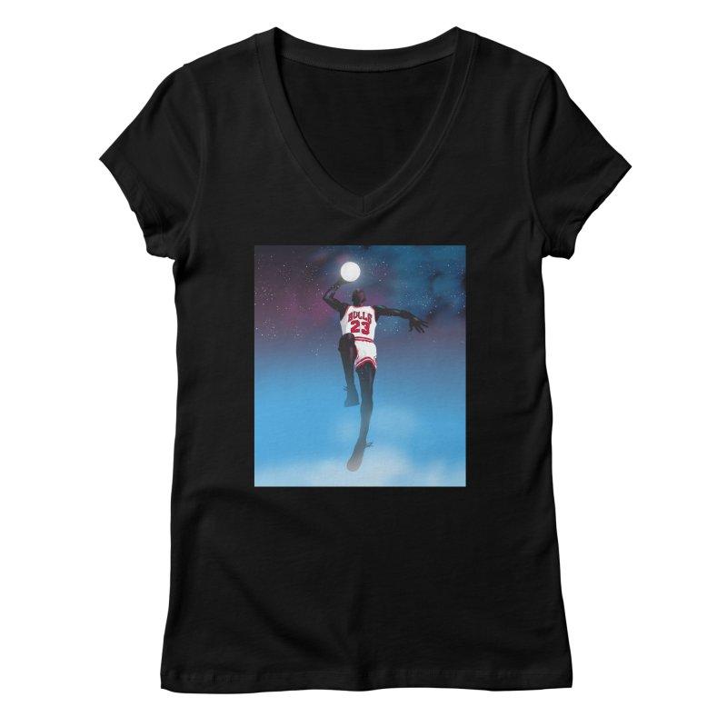 Space Jam (Jordan) Women's V-Neck by Daniel Stevens's Artist Shop