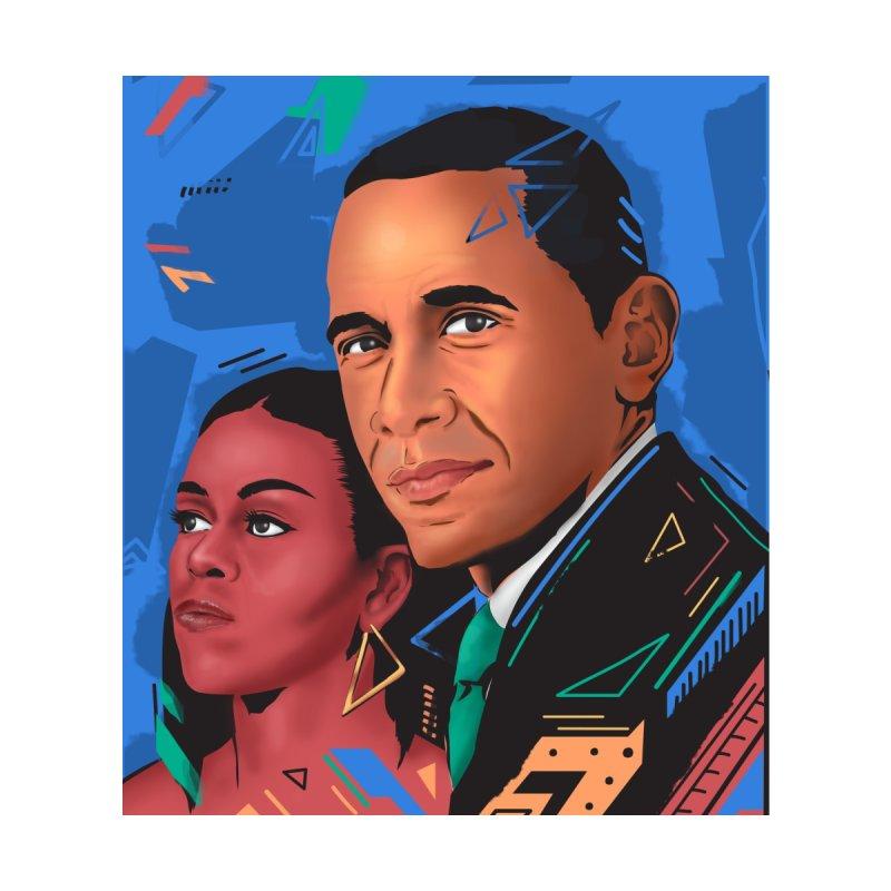 Obamas Home Stretched Canvas by Daniel Stevens's Artist Shop