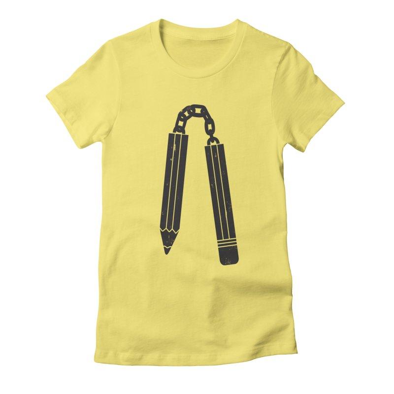 "Martial ""Arts"" Master Women's Fitted T-Shirt by danielstevens's Artist Shop"