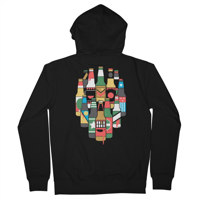 Zombeer Men's Zip-Up Hoody by danielstevens's Artist Shop