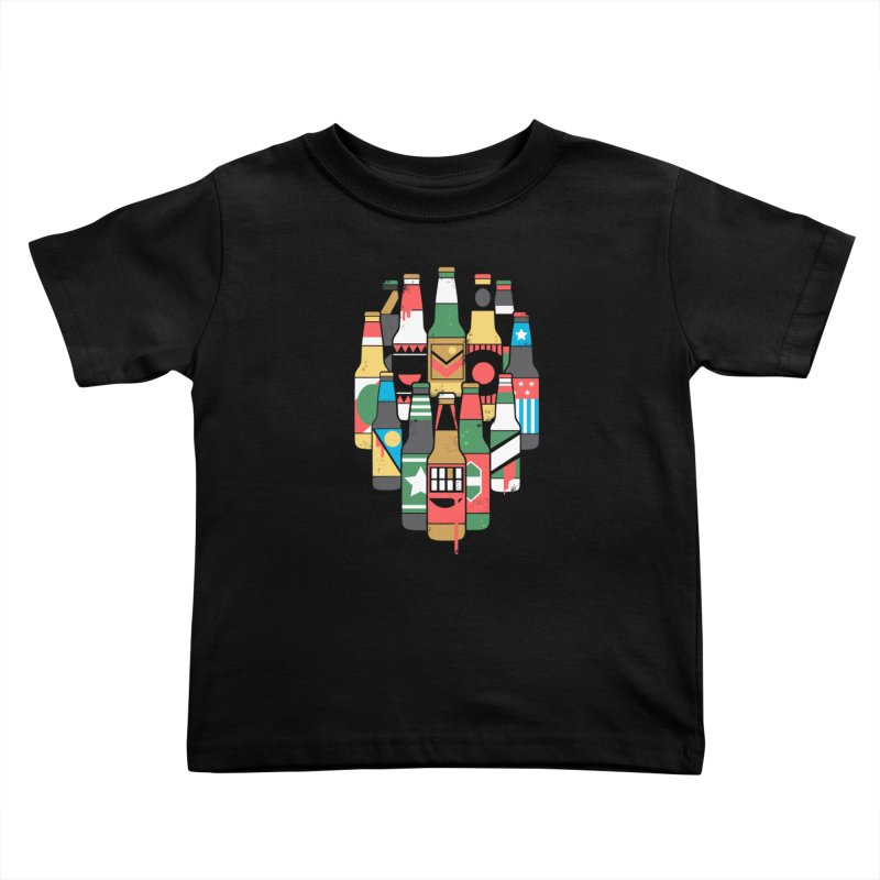 Zombeer Kids Toddler T-Shirt by danielstevens's Artist Shop