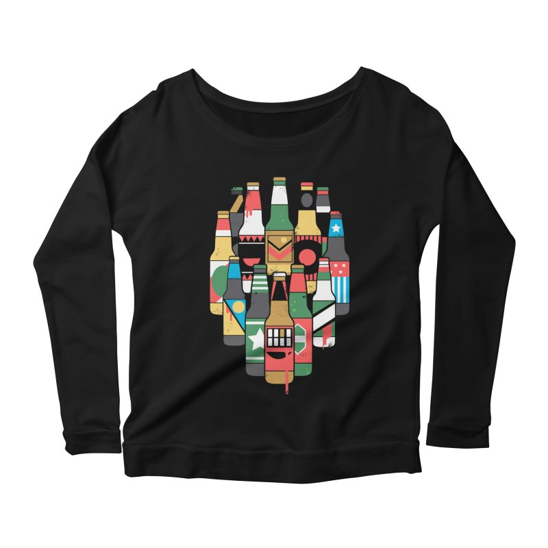 Zombeer Women's Longsleeve Scoopneck  by danielstevens's Artist Shop