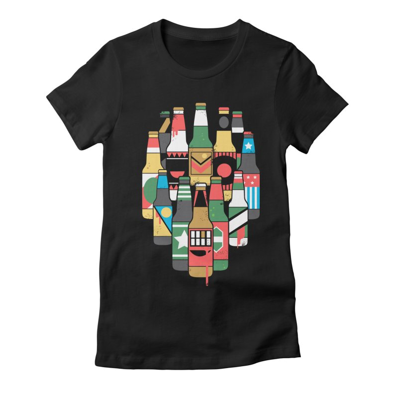 Zombeer Women's Fitted T-Shirt by danielstevens's Artist Shop