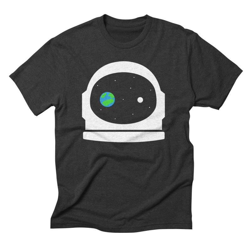 Space Face Men's Triblend T-shirt by danielstevens's Artist Shop