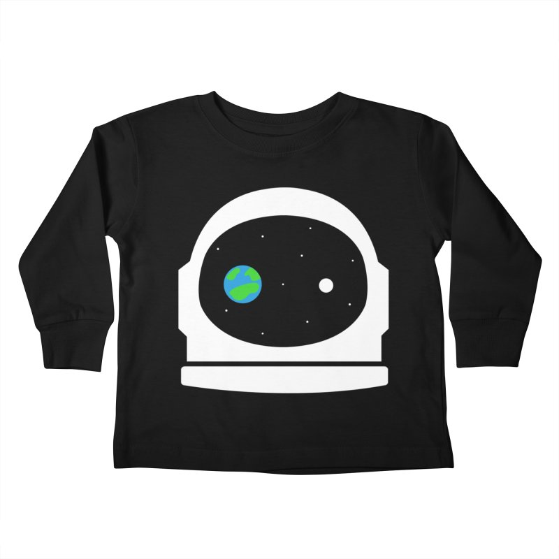 Space Face Kids Toddler Longsleeve T-Shirt by danielstevens's Artist Shop