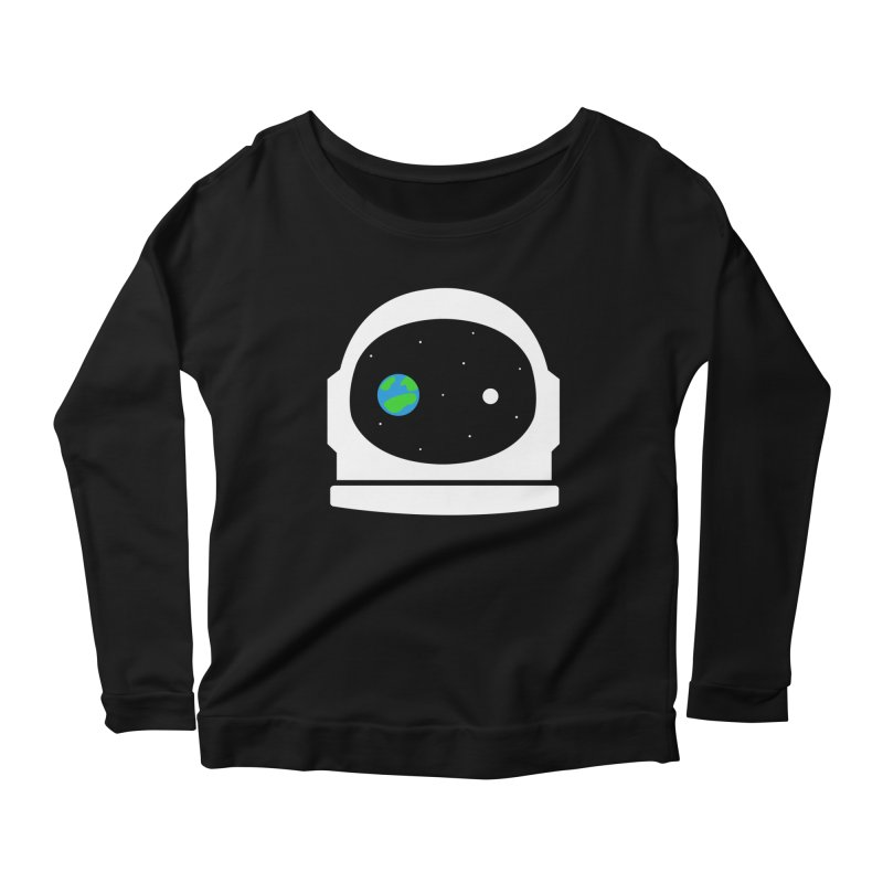 Space Face Women's Longsleeve Scoopneck  by danielstevens's Artist Shop