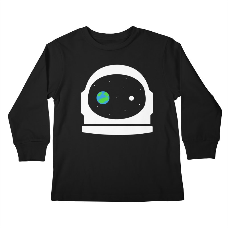 Space Face Kids Longsleeve T-Shirt by danielstevens's Artist Shop