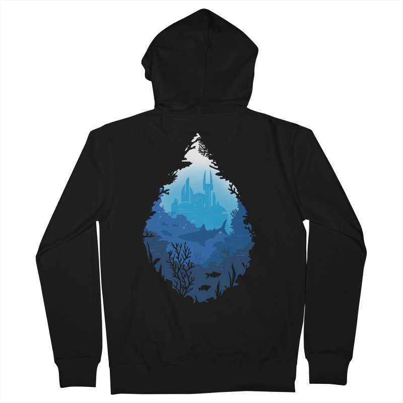 Atlantis Men's Zip-Up Hoody by danielstevens's Artist Shop