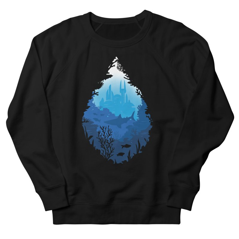 Atlantis Men's French Terry Sweatshirt by Daniel Stevens's Artist Shop
