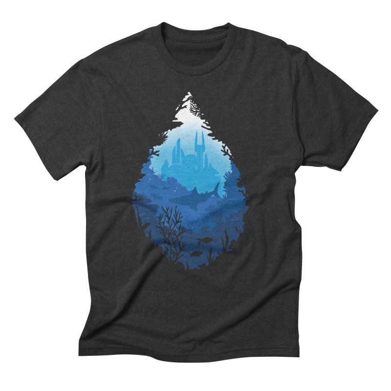 Atlantis Men's Triblend T-shirt by danielstevens's Artist Shop
