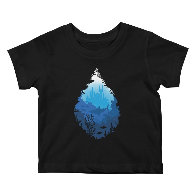 Atlantis Kids Baby T-Shirt by danielstevens's Artist Shop