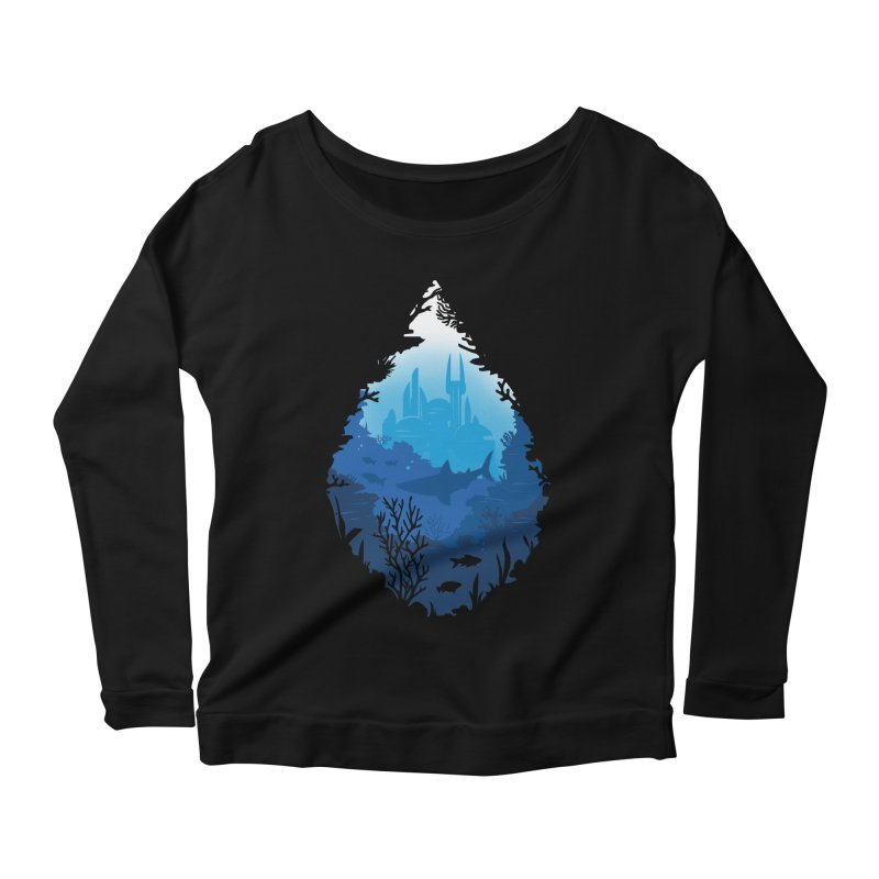 Atlantis Women's Longsleeve Scoopneck  by danielstevens's Artist Shop