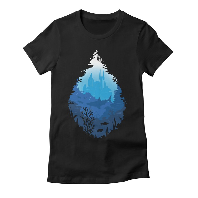 Atlantis Women's Fitted T-Shirt by danielstevens's Artist Shop