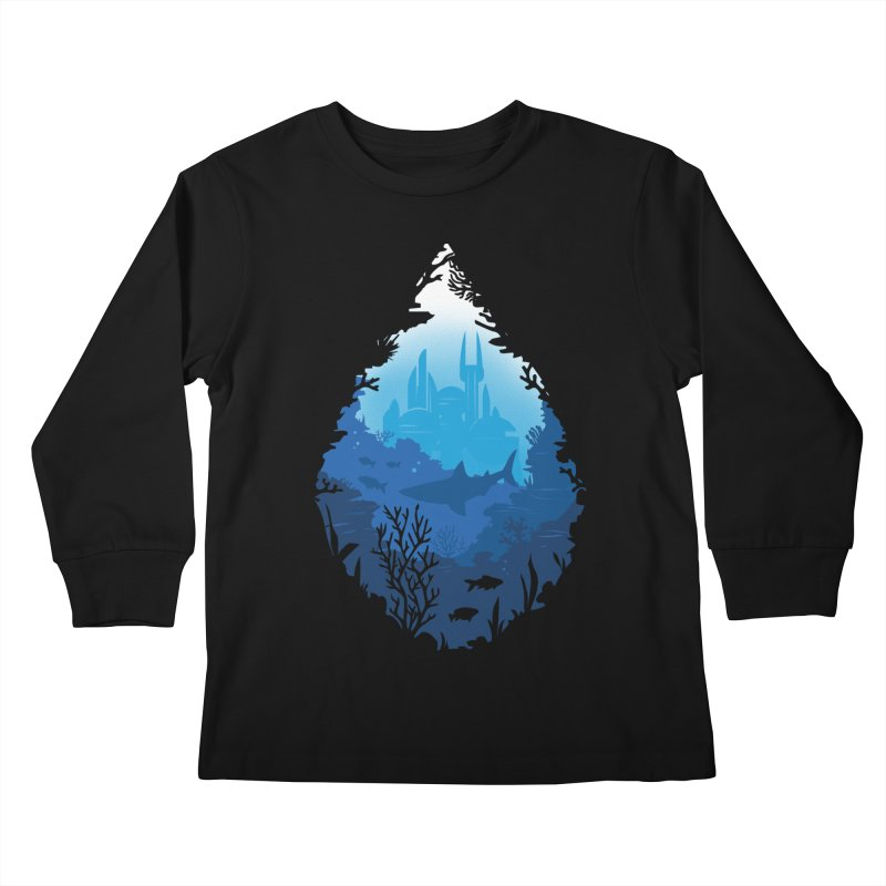 Atlantis Kids Longsleeve T-Shirt by danielstevens's Artist Shop